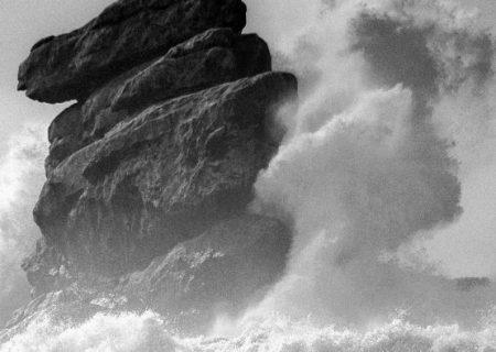 rock in storm